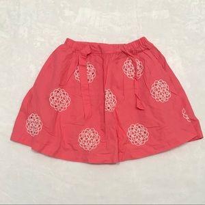 kids coral floral skirt